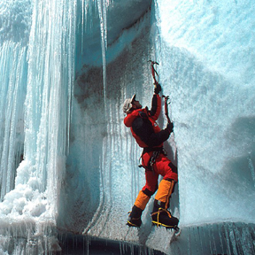 ice mountain climbing